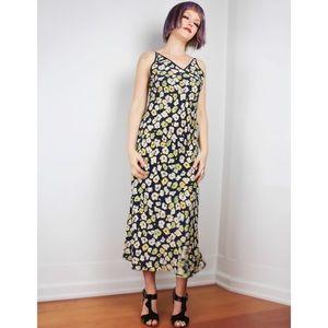 Vintage Josie Natori Floral Slip Dress